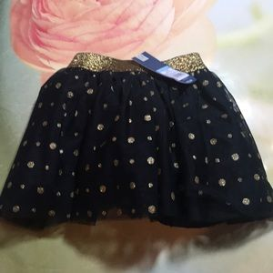 OshKosh Black Gold Tutu New with tags Size 5T